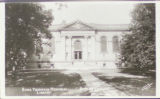 Postcard Showing the Bona Thompson Memorial Library at Butler University Irvington Campus